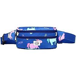 521s Precioso bolso de moda para la cintura | 20x6x11 cm | Unicornio, Colorido