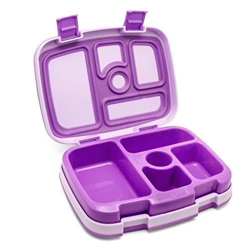 Bentgo Kids Lunch Box with 5 compartments, Leak-Proof purple by Bentgo