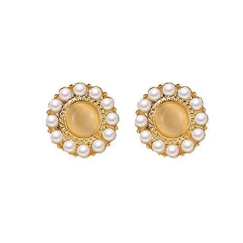LILIGOD Damen Retro Ohrringe Frauen Mode Perlenohrringe Elegant Luxus Damen Ohrringe Persönlichkeit Kreative Muschelförmige Perlenohrringe Damen Schmuck Geschenk