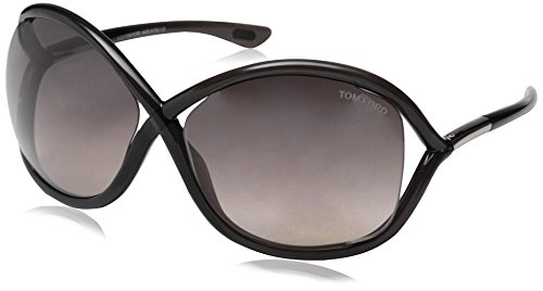 Tom Ford Damen FT0009 199 64 Sonnenbrille, Schwarz (Nero Lucido/Fumo),