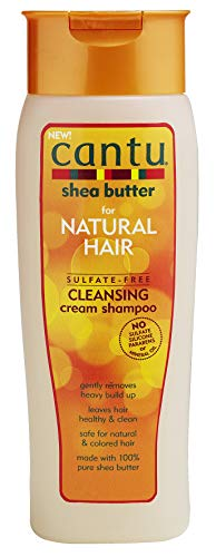 Cantu - Feuchtigkeitsspendendes Shampoo mit Sheabutter - Sulfatfreies Shampoo für Locken und strukturiertes Haar - 1er Pack (1 x 400ml) (Free Moisture Shampoo Sulfate)