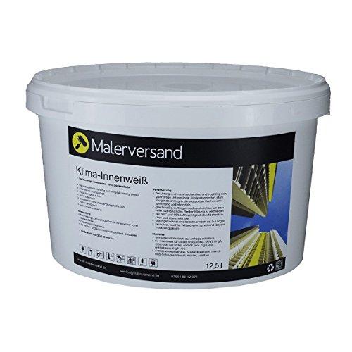 Malerversand Klima-Innenweiß 5 Liter - Silikatfarbe – Innenfarbe – Wohnraumfarbe – weiß - Mineral-Farbe