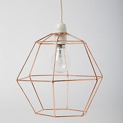 Industrielle Sechseck Kupfer Draht Lampenschirm Lampe Deckenleuchte Lampenschirm leuchten