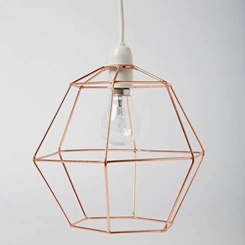Industrial Hexagon Copper Wire Ceiling Pendant Light Lamp Shade Lampshade Lights