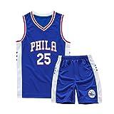 Hanbao NBA Phila 76ers 25# Simmons Trikot Kinder Madchen Basketball Anzug