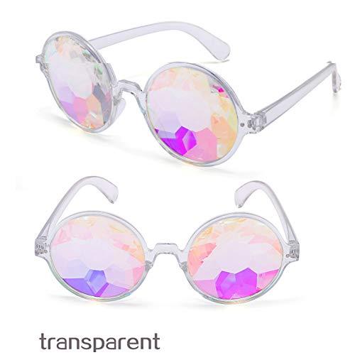 ZRTYJ Mode Runde Bunte Kaleidoskop Sonnenbrille Frauen Männer Promi Party Designer Brillen Einzigartige Kaleidoskop Brille