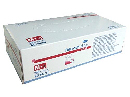 Peha-soft nitrile white 200 Stück Gr. M (7-8) Nitril Handschuhe