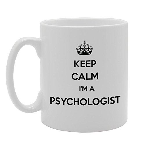 mg958Keep Calm I 'm A psicólogo regalo impreso Café, té taza de cerámica
