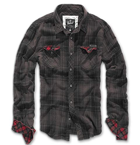 Brandit Check Shirt Duncan XL Schwarz/Braun -