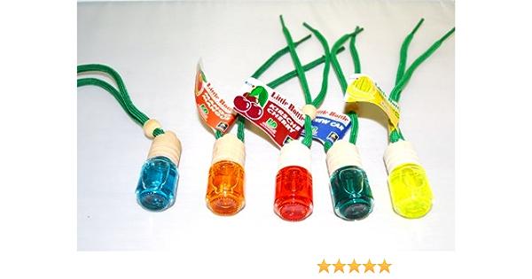 5 Stück L D Elegante Duftflakons Fürs Auto Little Bottle Mix 2 Je 1 Duftflakon In Cherry Mango Sweet Melon Honigmelone No Smoking Rauchfrei Bubble Gum Kaugummi Garten