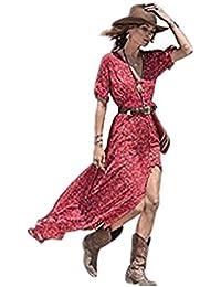 VENMO Las Mujer de Verano Bohemio de Gasa Floral Fiesta Playa Largo Vestido Maxi Dress
