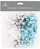 Tallon Christmas - 18Grande Regalo Fiocco, Argento, Blu e Bianco Fiocchi per Natale