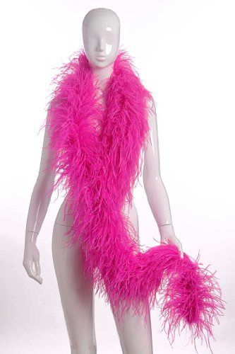 4 Plies Ostrich Boas Hot Pink by FeatherMart - Hot Pink Boa