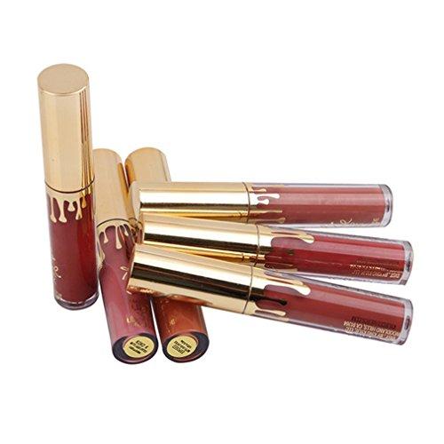 Cabet Lippenstifte Liquid Matt Lip Gloss Dauerrhaft Lip Liner Make up 6 Stück
