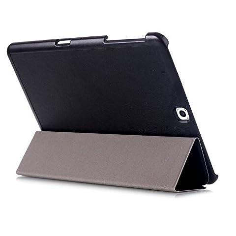 Tasche für Samsung Galaxy Tab S2 9.7 SM-T810 T811 T813 T815 T819 9.7 Zoll Schutz Hülle Flip Tablet Cover Case S 2 (Schwarz) (Angebot Tablet)