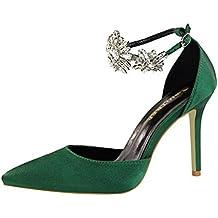 ALUK- Scarpe da donna - Scarpe con tacchi alti Scarpe con strass Sandali Scarpe  da e59e1c3150f