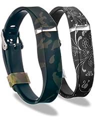 YINUO Ersatzarmband Armband Zubehör Band Cover Fälle Wristband für Fitbit Flex Aktivität und Schlaf armband mit Verschluss ohne Tracker