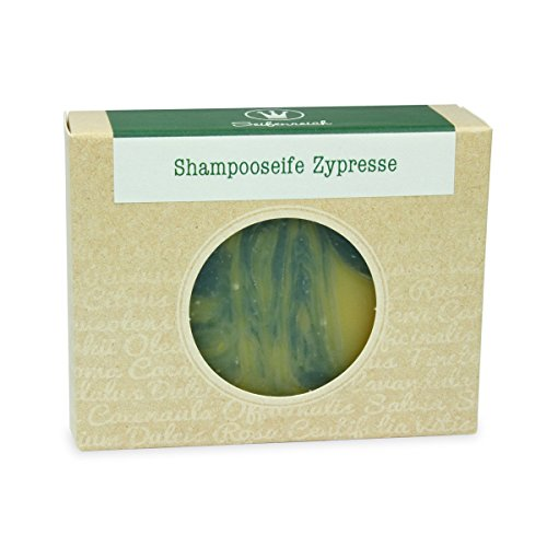 Seifenreich Shampooseife Zypresse, 1er Pack (1 x 100 g)