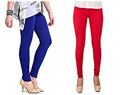 Roop Trading Co girls cotton material, churidar full length legging style, royalblue-red colour size available- XL,XXL,XXL