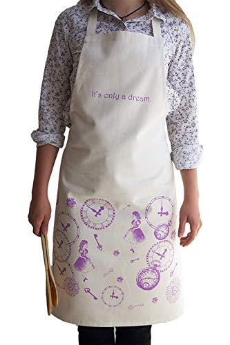 Küche Geschirrtuch–Alice in Wonderland Küche Geschirrtuch-100% Baumwolle Leinen 78x 48Mystery Girl Home Zubehör–Geschenk für Mutter Einzugs Geschenk Made in England, Naturfarben, natur, 78 x ()