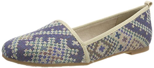 Tamaris Damen 24668 Slipper, Blau (Navy Ethno), 40 EU