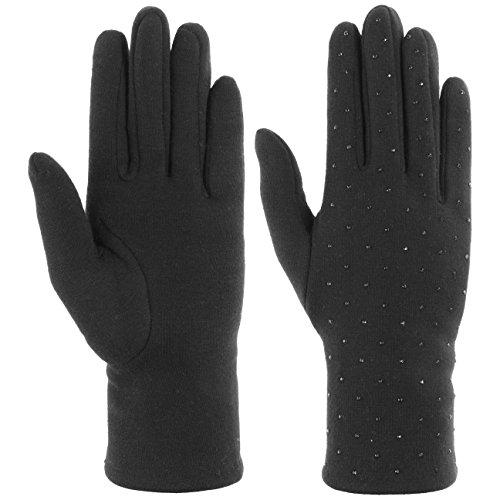Lipodo Strass Damenhandschuhe Handschuhe Fingerhandschuhe Baumwollhandschuhe Damen | mit Futter Herbst-Winter | 8 HS schwarz - Strass Damen Handschuh