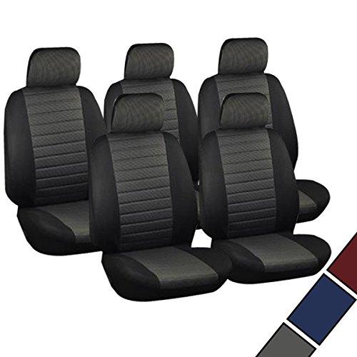 Preisvergleich Produktbild VAN Sitzbezüge Schonbezüge Sitzbezug universal 5x Sitzer Sitze Kariert Grau AS7231