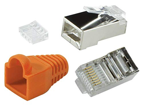 Odedo® 10 Pack - Conector crimp Cat6 metal