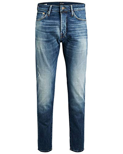 JACK & JONES Herren Jeans JJIFRED JJICON JJ 109 - Antifit - Blau - Blue Denim, Größe:W 31 L 32, Farbe:Blue Denim (12140277)