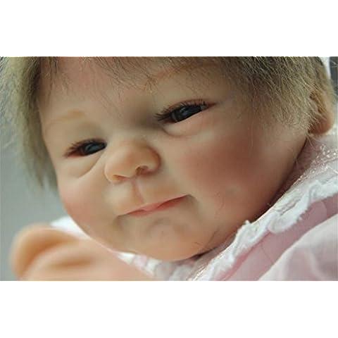 Fachel Reborn doll muñeca realista de silicona muñeca bebe dollsvinyl bebés recién nacidos 18inch 45cm como en la vida real Baby Doll muñeca Reborn