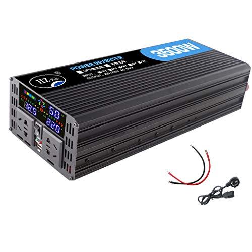 DNSJB Convertitore di tensione for onda sinusoidale modificata 1000W / 2000 / 3500W Convertitore di tensione for auto da 12V a 200V incl.Spina for accendisigari, porta di ricarica USB e connessio