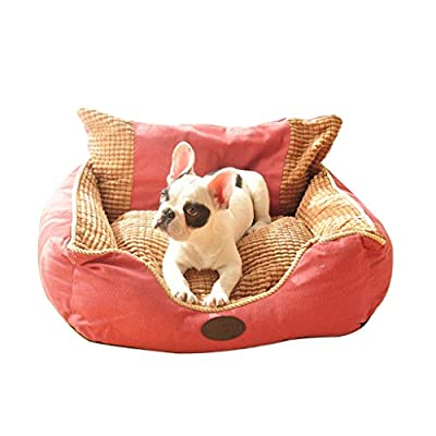 66ccwwww Pet bed Kennel, removable and washable Teddy dog bed autumn and winter warm pets pillows puppies pandas small dogs dogs from mal