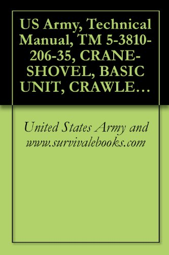 US Army, Technical Manual, TM 5-3810-206-35, CRANE-SHOVEL, BASIC UNIT, CRAWLER MTD, 40-TON, 2 CU YD, DIESEL DRIVEN (W/HARNISCHFEGER ENGINE MODEL 687C-18-ES) ... 855BG) (NSN 3810-00-6 (English Edition) -