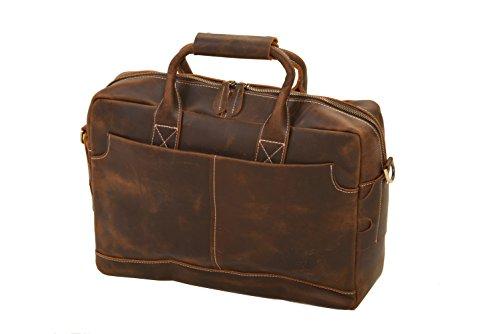 bupell Aktentasche XL - Leder Laptoptasche mit viel Stauraum Aktentasche XL