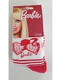 1 paire de Chaussettes Barbie Taille 27/30 - rouge et blanc