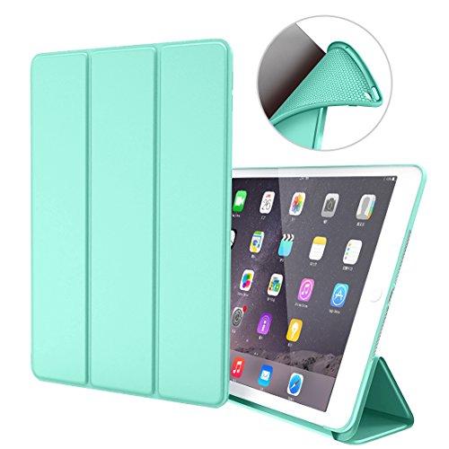 Custodia per iPad Air 1,Goojodoq Smart Cover con funzione Auto Sleep/Wake Magnetico PU Antiurto in Silicone Morbido TPU Custodia a Libro per Apple iPad Air 1 Verde