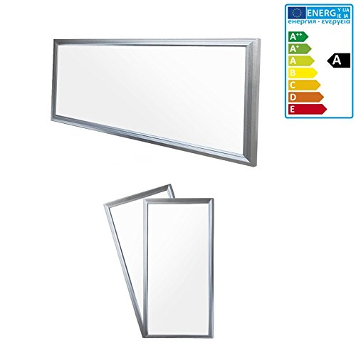 ECD Germany LED Panel 18W - 60 x 30 cm - 2-er Pack - Ultraslim Dünn - SMD 3014 - Warmweiß 3000K - 220-240 V - ca. 1295 Lumen - Einbauleuchte Deckenleuchte 2 X 20 Panel