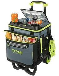 California Innovations INC Titan Deep Freeze - Nevera de 22,5 litros / 60 latas, con Capacidad de 60 latas y Carro Todoterreno