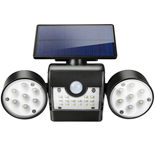 LEDGLE Luz Solar Exterior, Lámparas Solares 30 LED Foco Solar con Sensor...