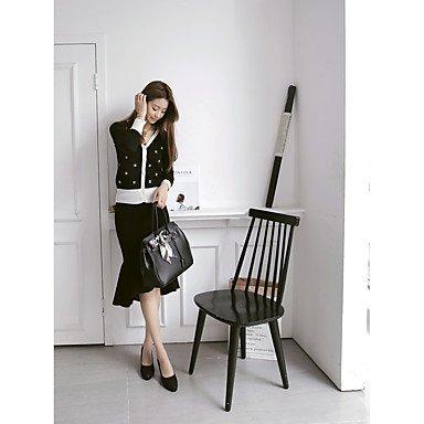 LYNXL Talloni delle donne Primavera Estate Autunno tacco grosso Casual Sfilata di moda invernale Altro Tulle ufficio & carriera Altri Nero Rosso Beige Beige
