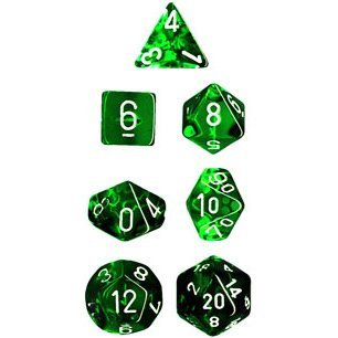 Polyhedral Dice: Translucent Green