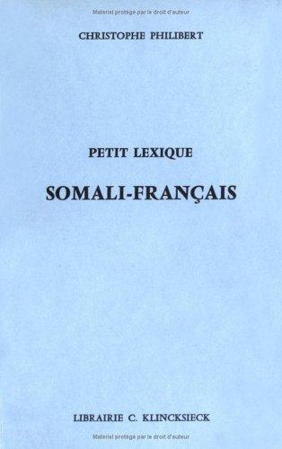 Petit lexique somali-français par Christophe Philibert