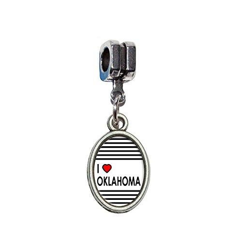 (I love Herz Oklahoma Italienisches europäischen Euro-Stil Armband Charm Bead–für Pandora, Biagi, Troll,, Chamilla,, andere)