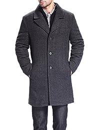 BGSD Men's 'Derek' Herringbone Wool Blend Bibbed Walking Coat