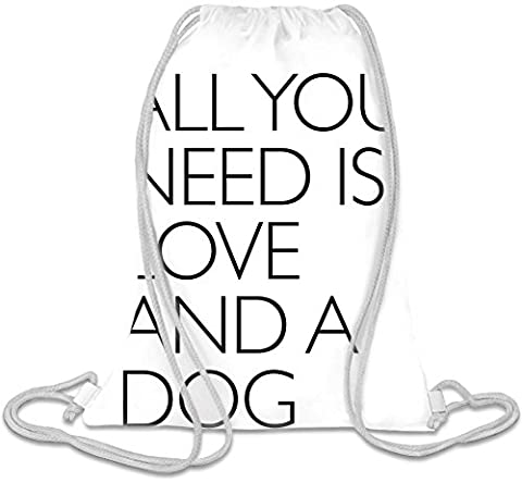 All You Need Is Love And A Dog Slogan Kordelzug Beutel