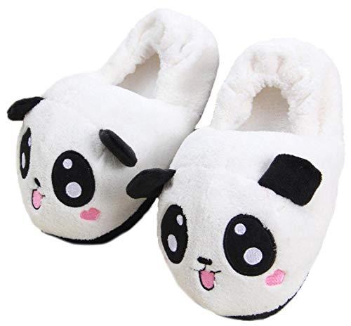 Le pantofole della casa della peluche di forma animale sveglia di inverno 3d adattano le scarpe dell'interno cosplay animali caldi per le donne (panda)