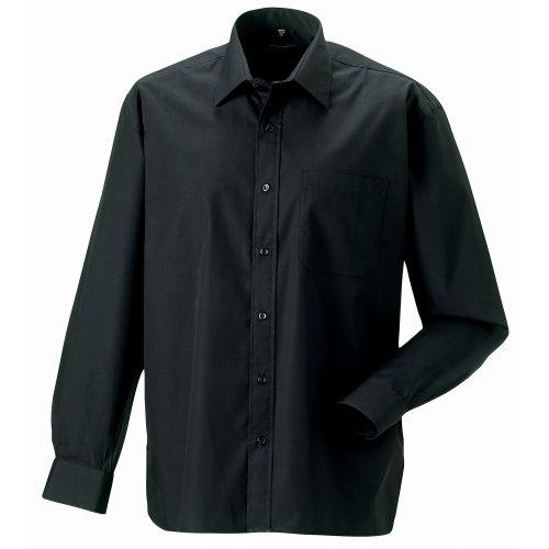 Russell Herren Hemd / Business-Hemd, langärmlig Schwarz