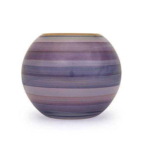 Angela neue Wiener Werkstaette Glasvase veredelt Kugelform, Glas, Lila, 14 x 14 x 14 cm,