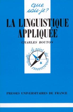 La linguistique appliquée