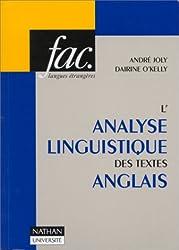 L'Analyse linguistique des textes anglais